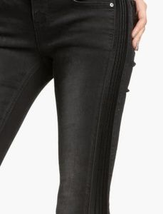 Free People faux leather sides skinny jeans